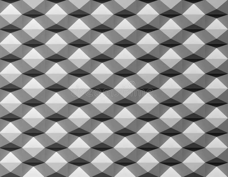 Modelo creativo negro del blanco 3D foto de archivo libre de regalías