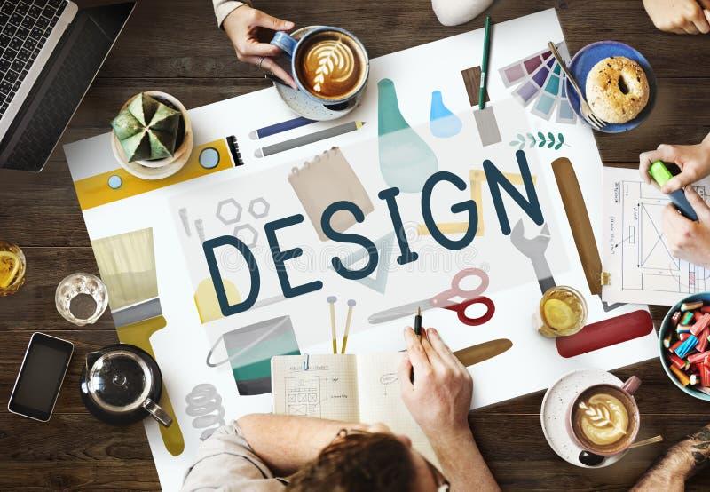 Modelo criativo Objetive Concept do desenho do esboço do projeto imagens de stock