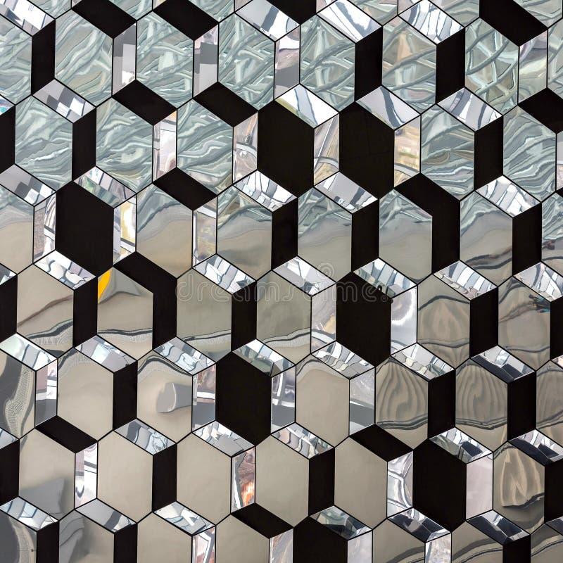 Modelo cristalizado vidrio abstracto del espejo imágenes de archivo libres de regalías