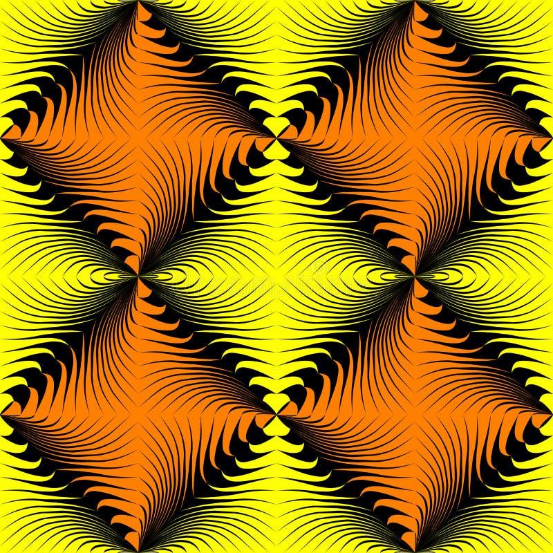 Modelo cuadrado amarillo inconsútil Fondo del papel de embalaje del vector ilustración del vector