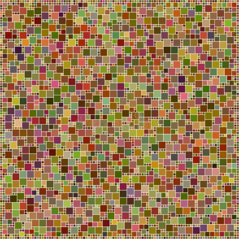 Modelo cuadrado colorido del diseño del mosaico de Brown stock de ilustración