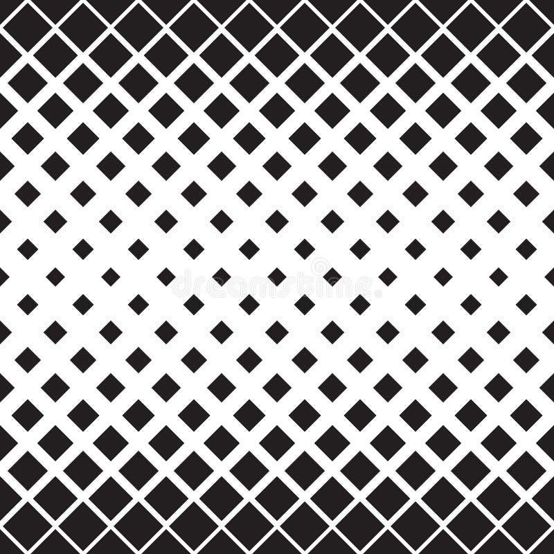 Modelo cuadrado inconsútil Orna geométrico blanco y negro abstracto stock de ilustración