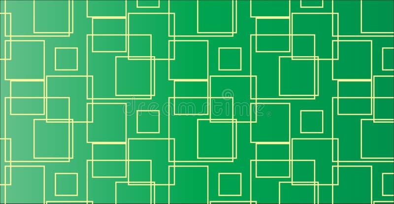 Modelo cuadrado verde abstracto moderno simple ilustración del vector