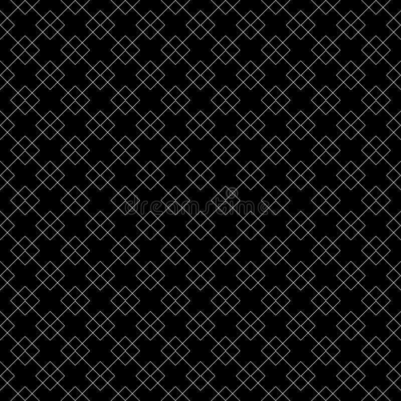 Modelo curvado inconsútil blanco y negro stock de ilustración