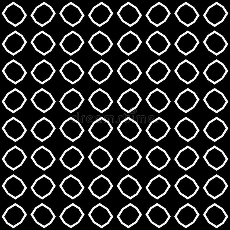 Modelo curvado inconsútil blanco y negro ilustración del vector