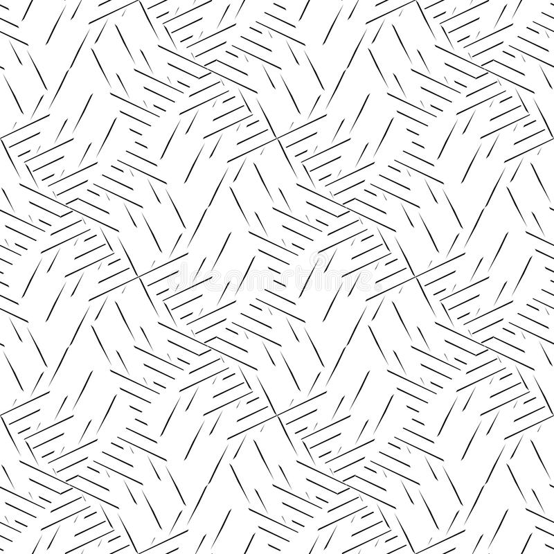 Modelo curvado inconsútil blanco y negro libre illustration