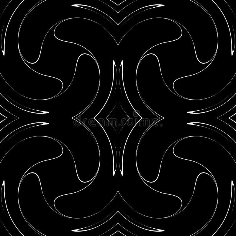 Modelo curvado incons?til blanco y negro Carriles, extracto stock de ilustración