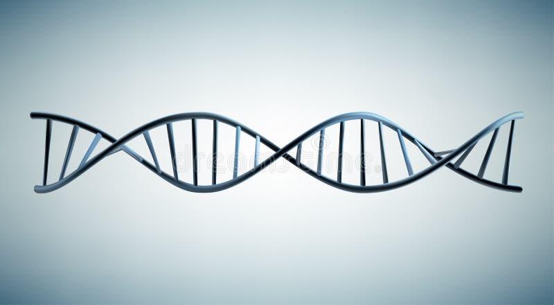 Modelo 3d de la DNA stock de ilustración