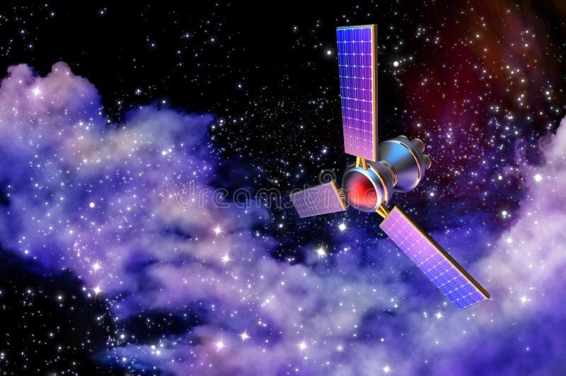modelo 3D de un satélite artificial de la tierra foto de archivo