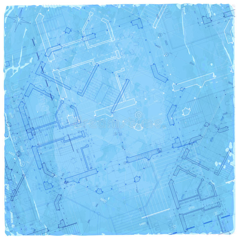 Modelo da arquitetura - plano da casa ilustração stock