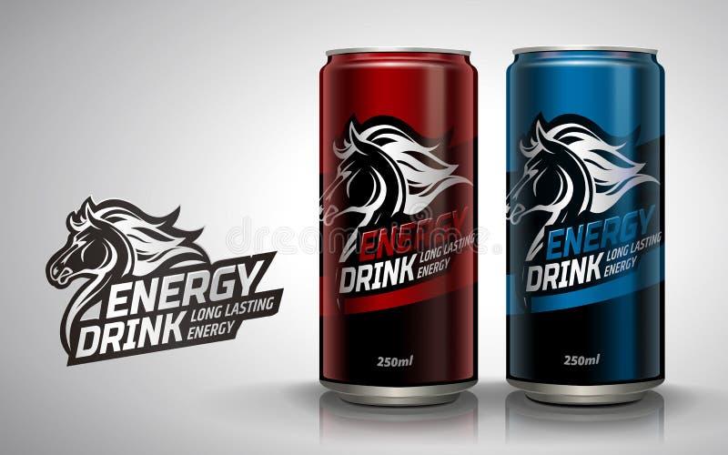Modelo da bebida da energia ilustração royalty free