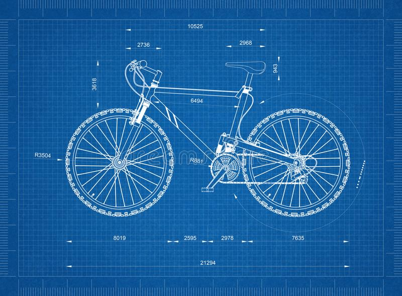 Modelo da bicicleta da montanha ilustração royalty free