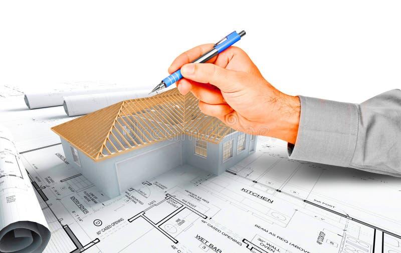 Modelo da casa ilustração do vetor