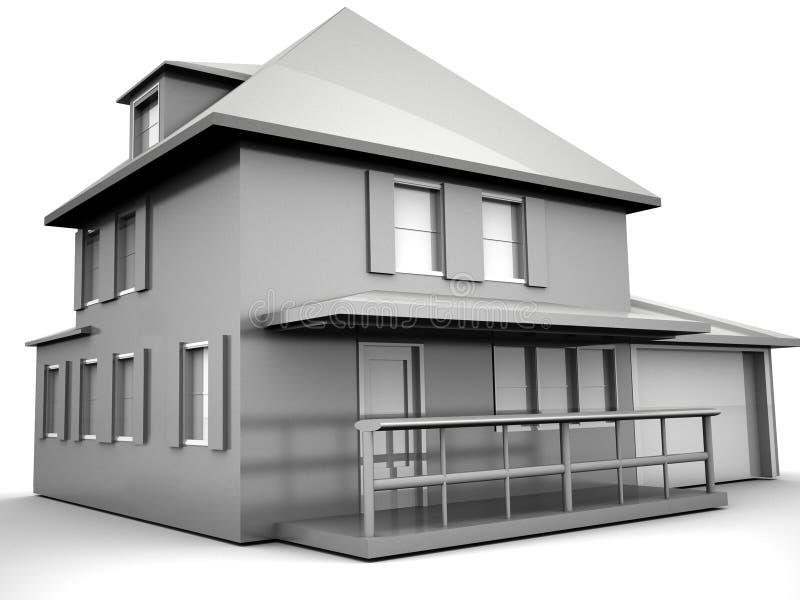 Modelo da casa ilustração royalty free