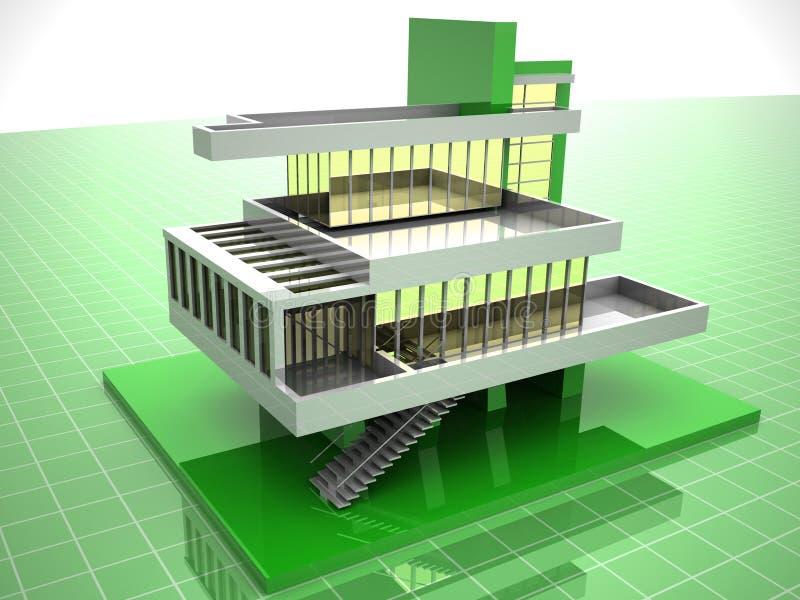 Modelo da casa ilustração stock