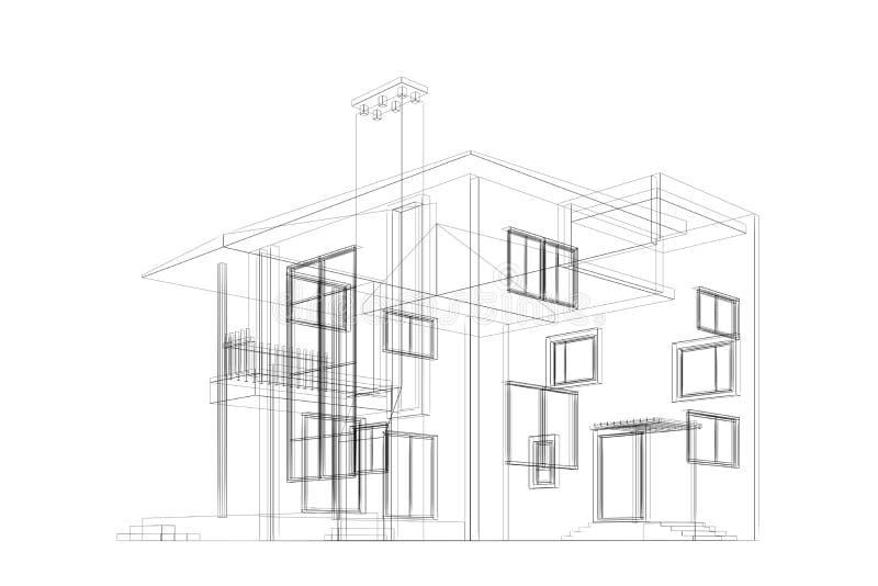 Download Modelo da casa de campo ilustração stock. Ilustração de quadro - 29846628