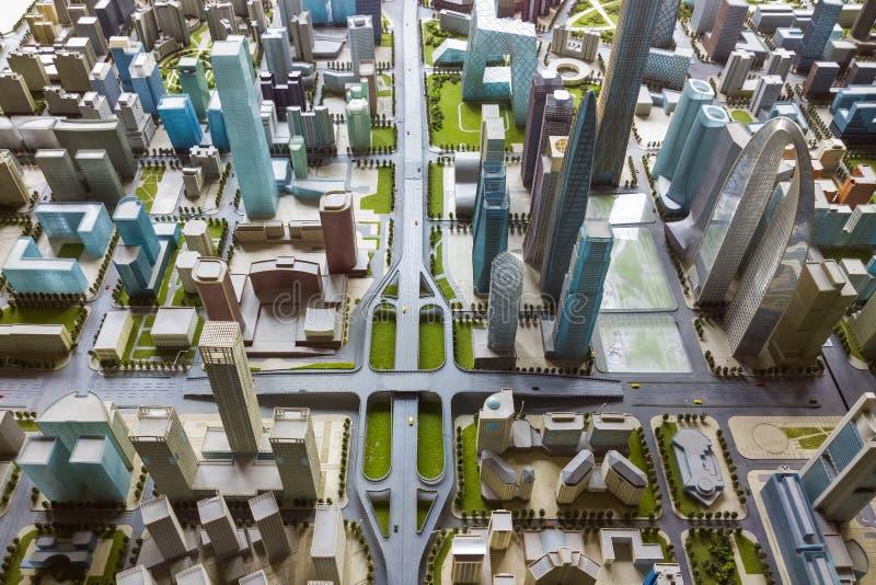 Modelo da cidade imagem de stock