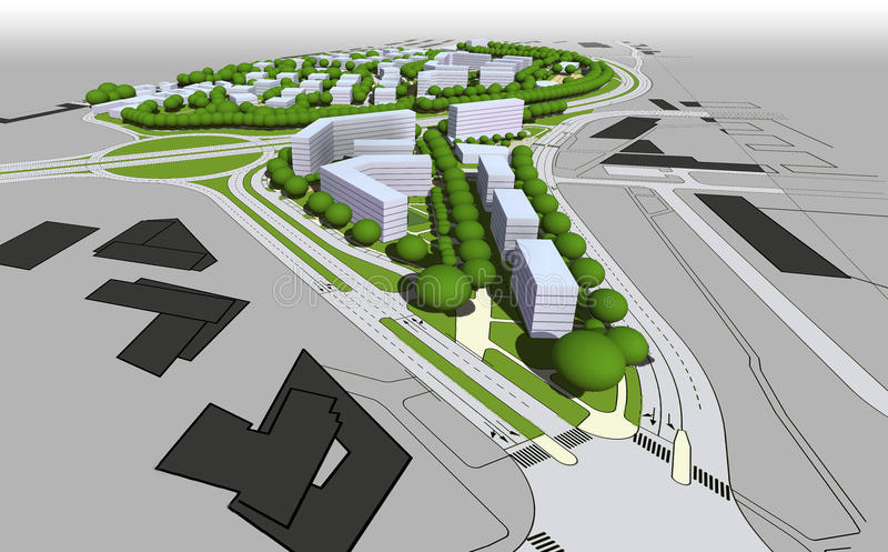 Modelo da cidade ilustração do vetor