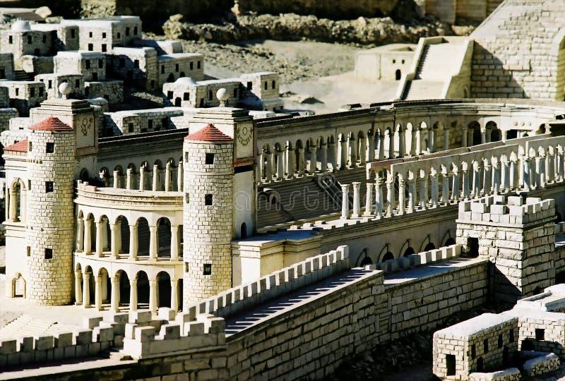 Modelo da cidade de Jerusalem imagem de stock royalty free