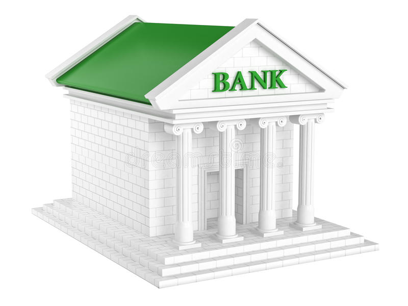 Modelo da construção de Federal Bank ilustração stock
