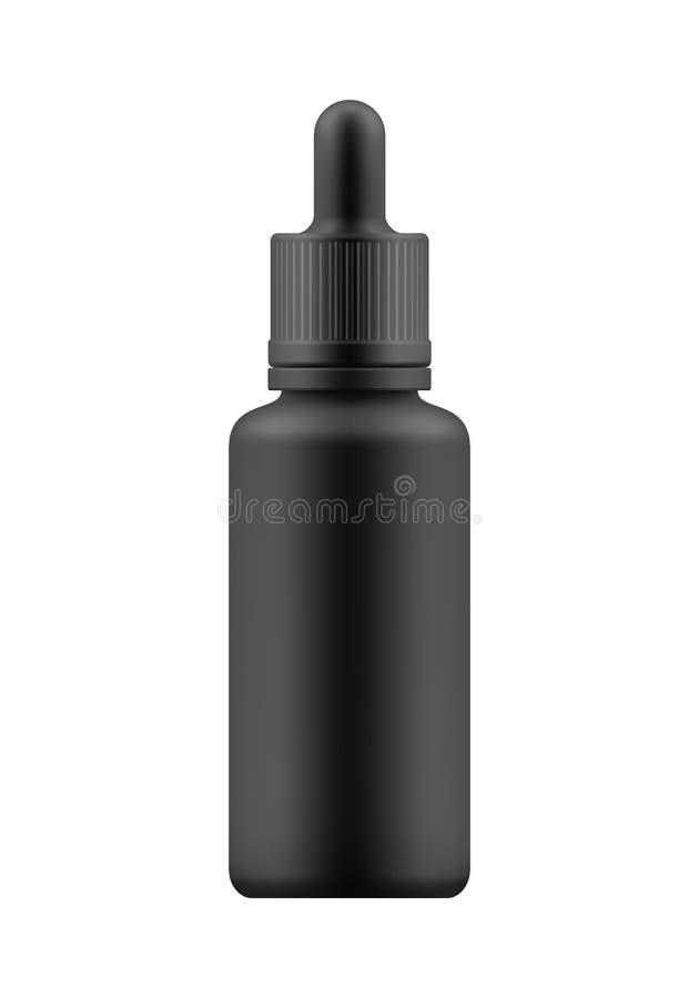 Modelo da garrafa com conta-gotas ilustração stock