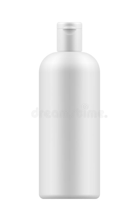 Modelo da garrafa plástica branca ilustração royalty free