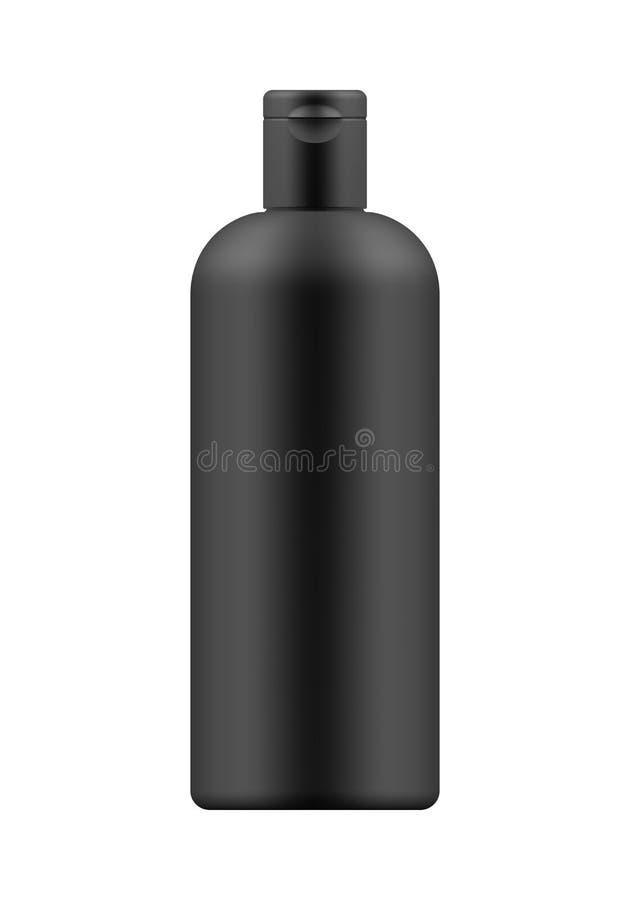 Modelo da garrafa plástica branca ilustração stock
