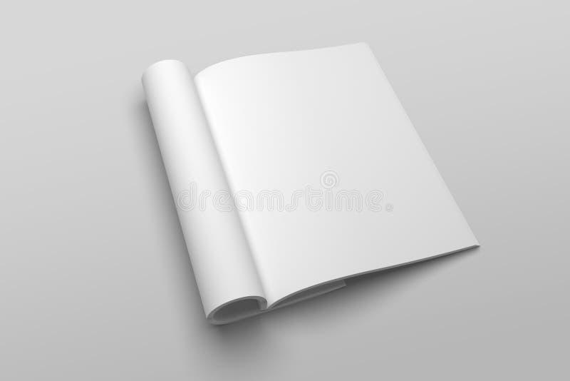 Modelo da ilustração do compartimento ou do folheto 3D da letra dos E.U. nenhum 2 ilustração do vetor