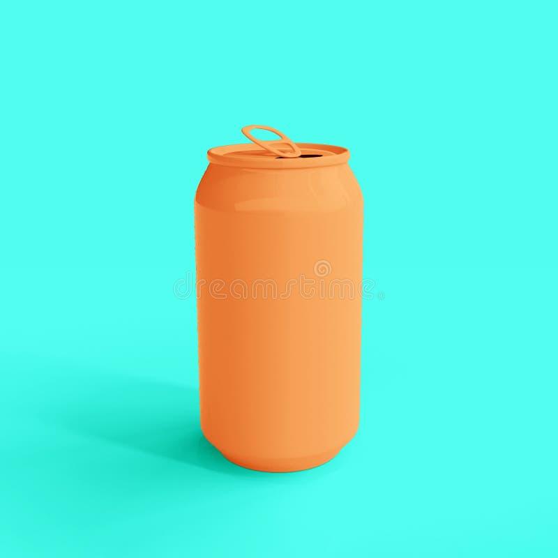 Modelo da lata de soda ilustração royalty free