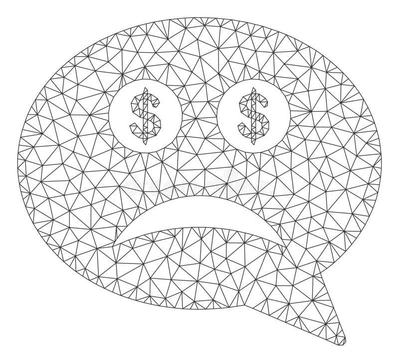 Modelo da malha falido do vetor 2D ilustração do vetor