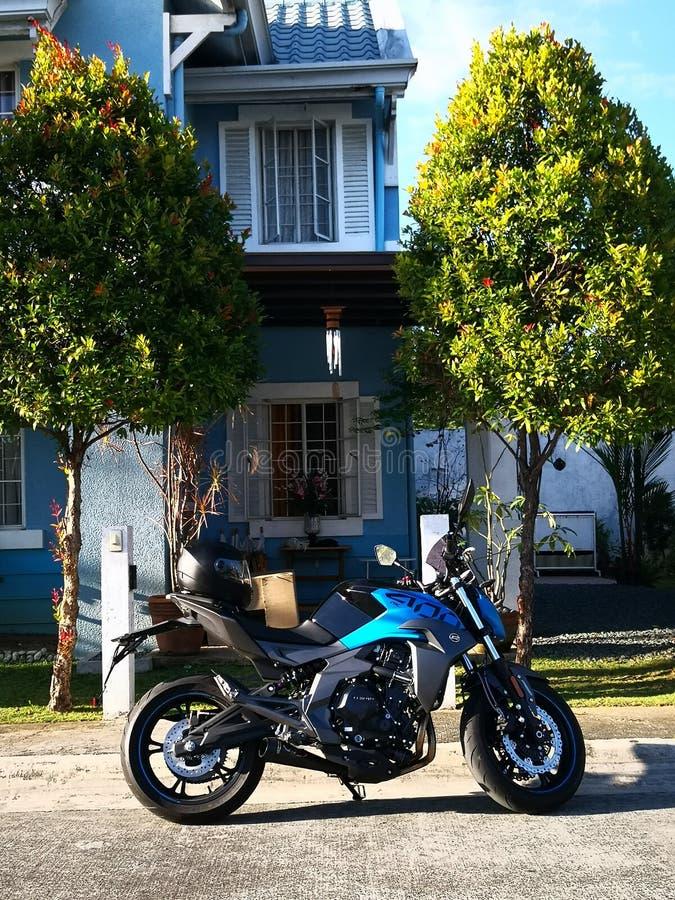 Modelo da motocicleta fotografia de stock