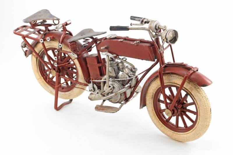 Modelo da motocicleta do estanho imagens de stock