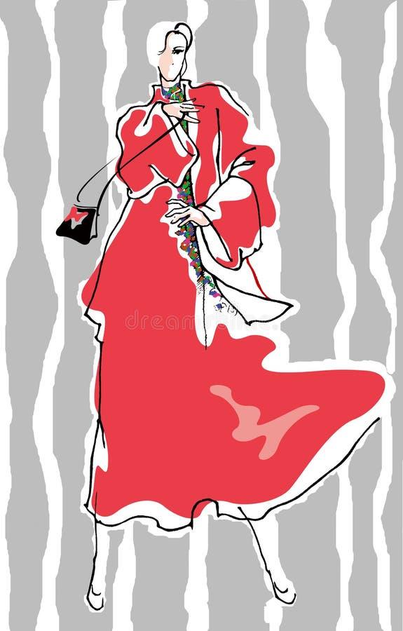 Modelo da mulher da forma ilustração royalty free