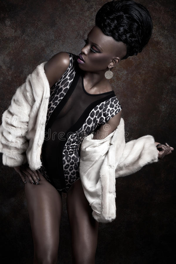 Modelo da mulher do americano africano fotos de stock royalty free