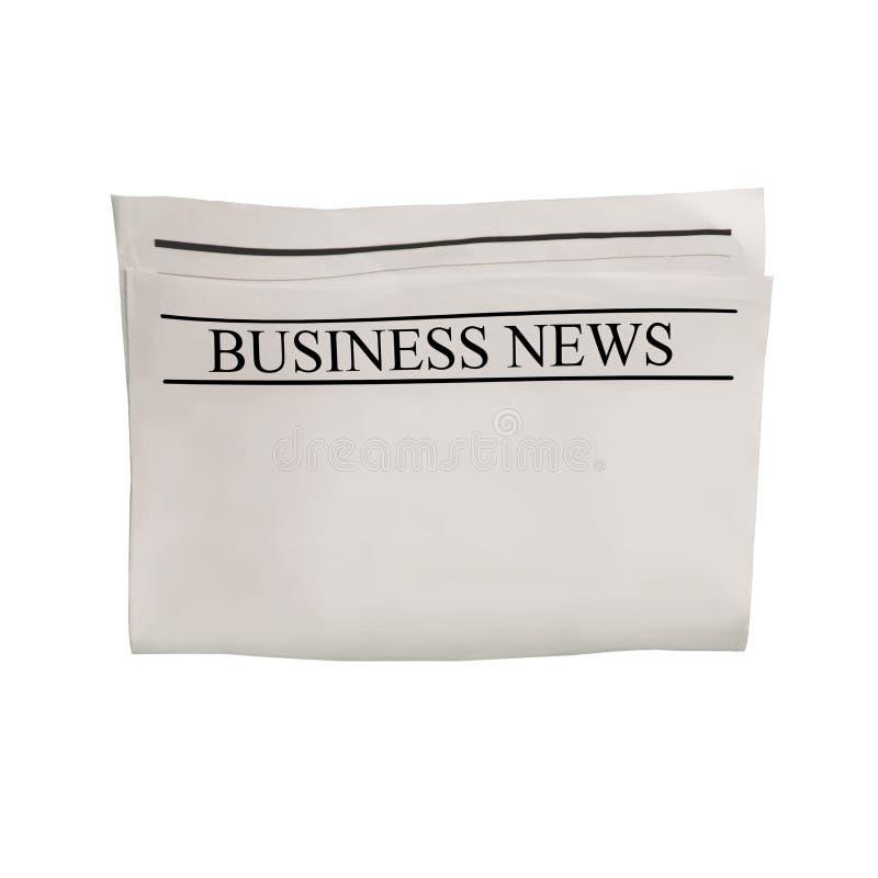Modelo da placa do jornal do Business News com espaço vazio para o texto, o título e as imagens da notícia ilustração royalty free