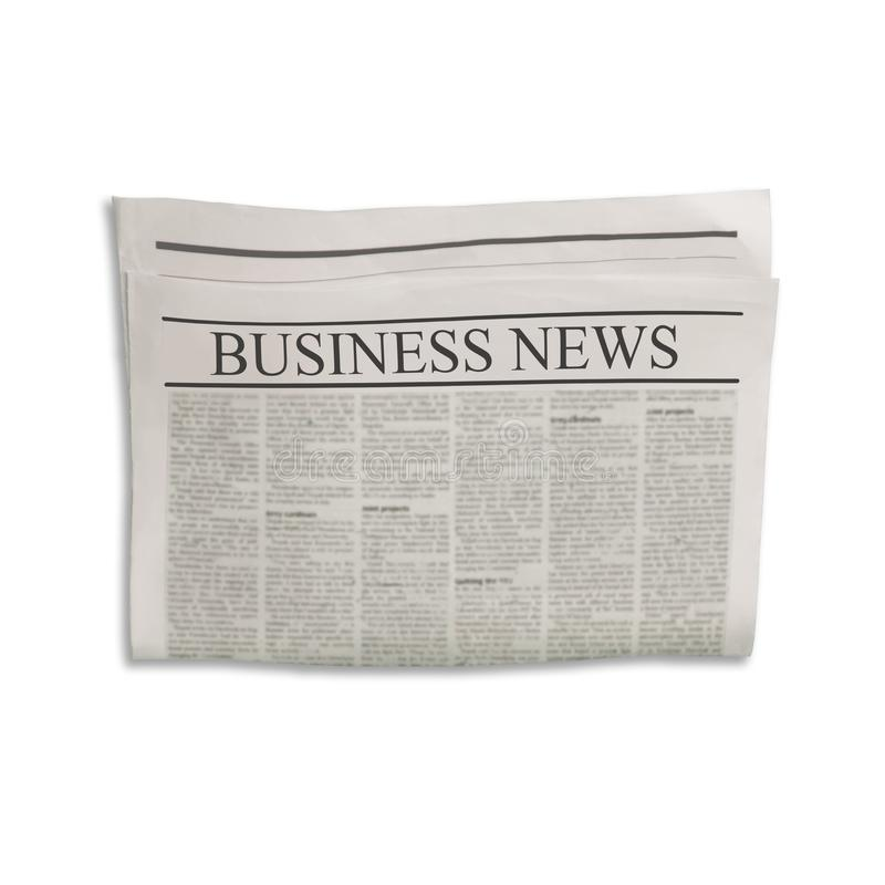 Modelo da placa do jornal do Business News com espaço vazio para o texto, o título e as imagens da notícia fotos de stock