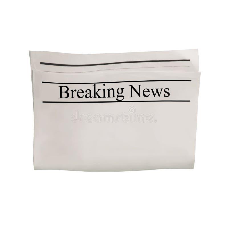 Modelo da placa do jornal das notícias de última hora com espaço textured para o texto, o título e as imagens imagem de stock