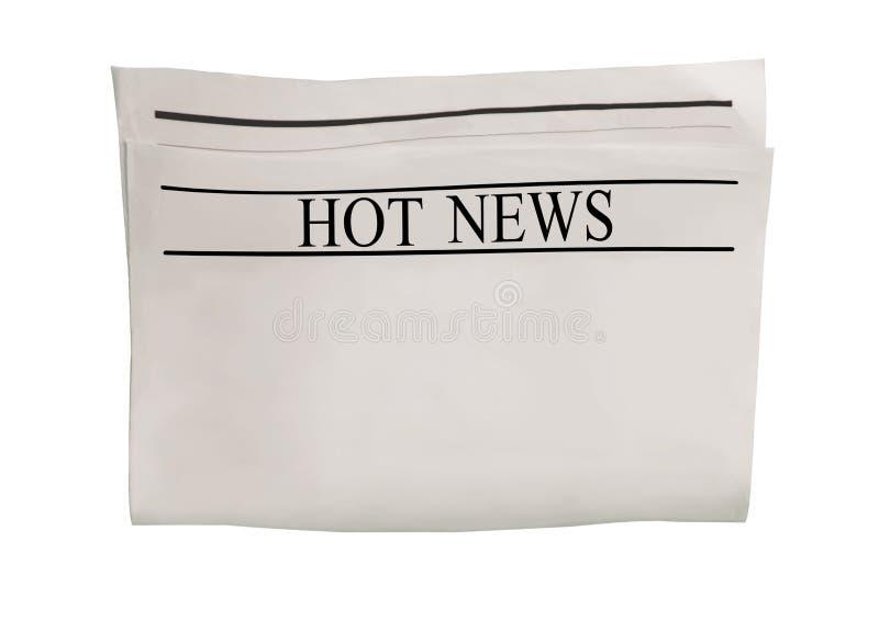 Modelo da placa do jornal das novidades com espaço vazio para o texto, o título e as imagens da notícia ilustração do vetor