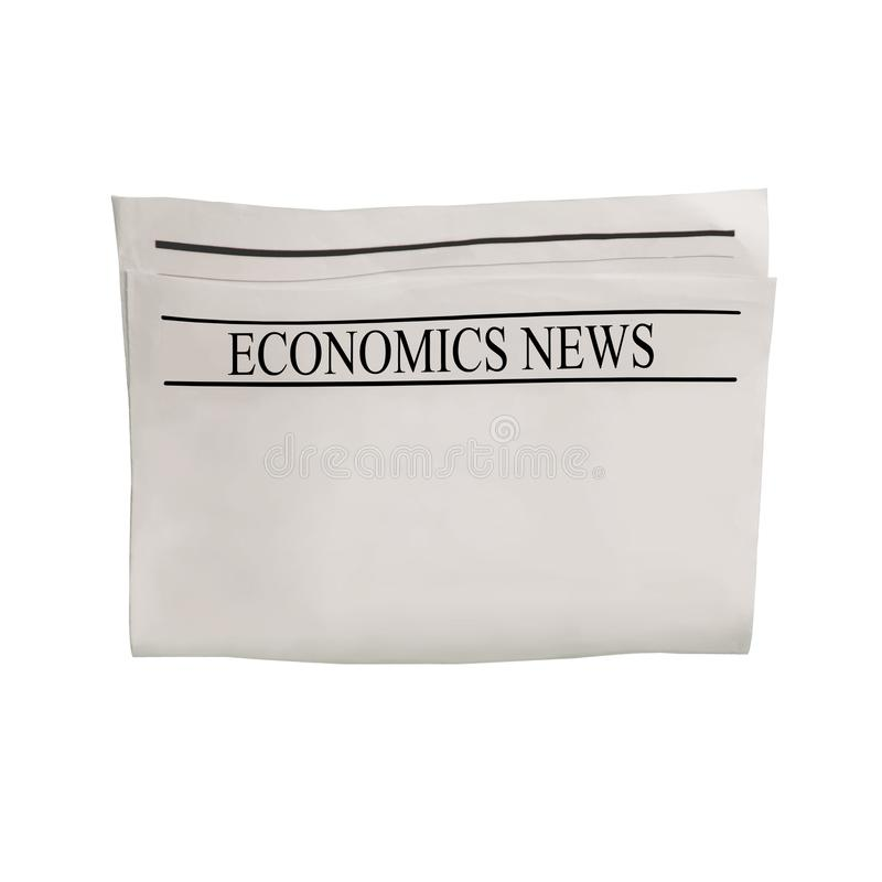 Modelo da placa do jornal da notícia da economia com espaço vazio para o texto, o título e as imagens da notícia imagem de stock royalty free
