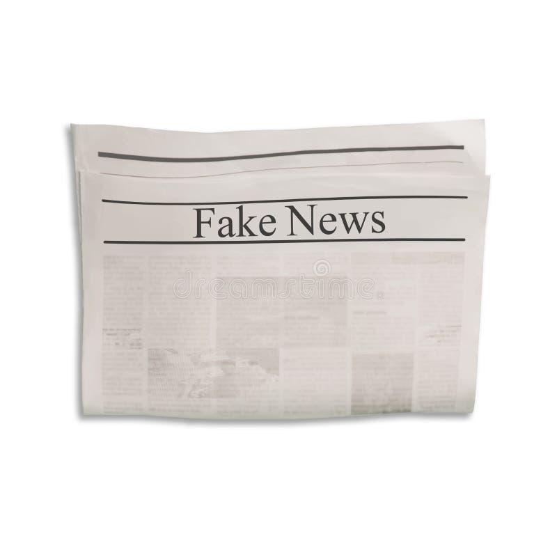 Modelo da placa falsificada do jornal da notícia com espaço textured para o texto, o título e as imagens ilustração do vetor