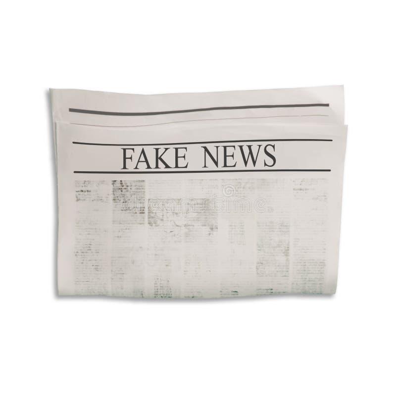 Modelo da placa falsificada do jornal da notícia com espaço textured para o texto, o título e as imagens imagem de stock