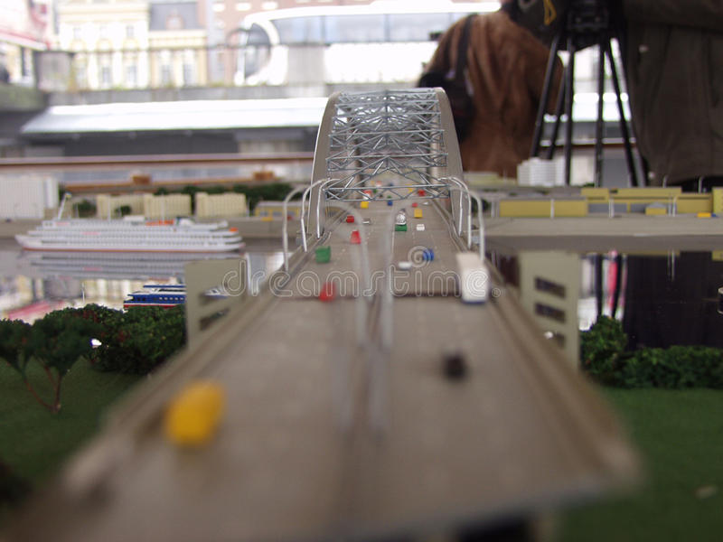 Modelo da ponte fotos de stock royalty free