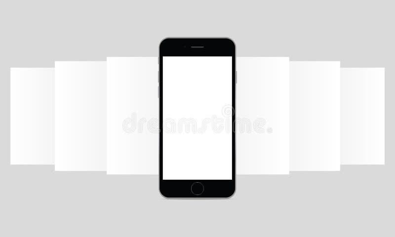 Modelo da tela de Smartphone app ilustração stock
