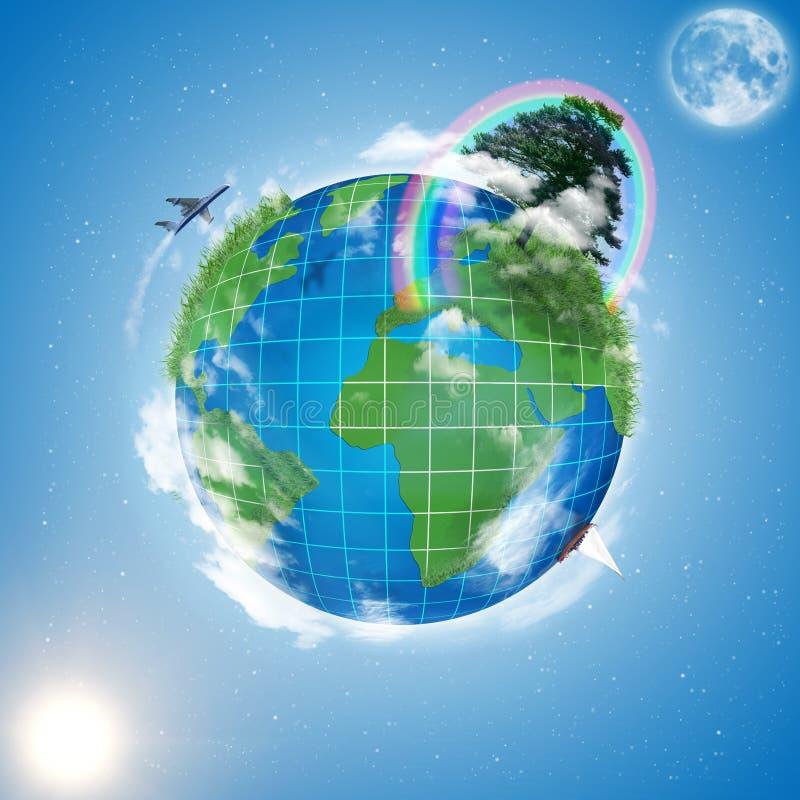 Modelo da terra imagem de stock royalty free