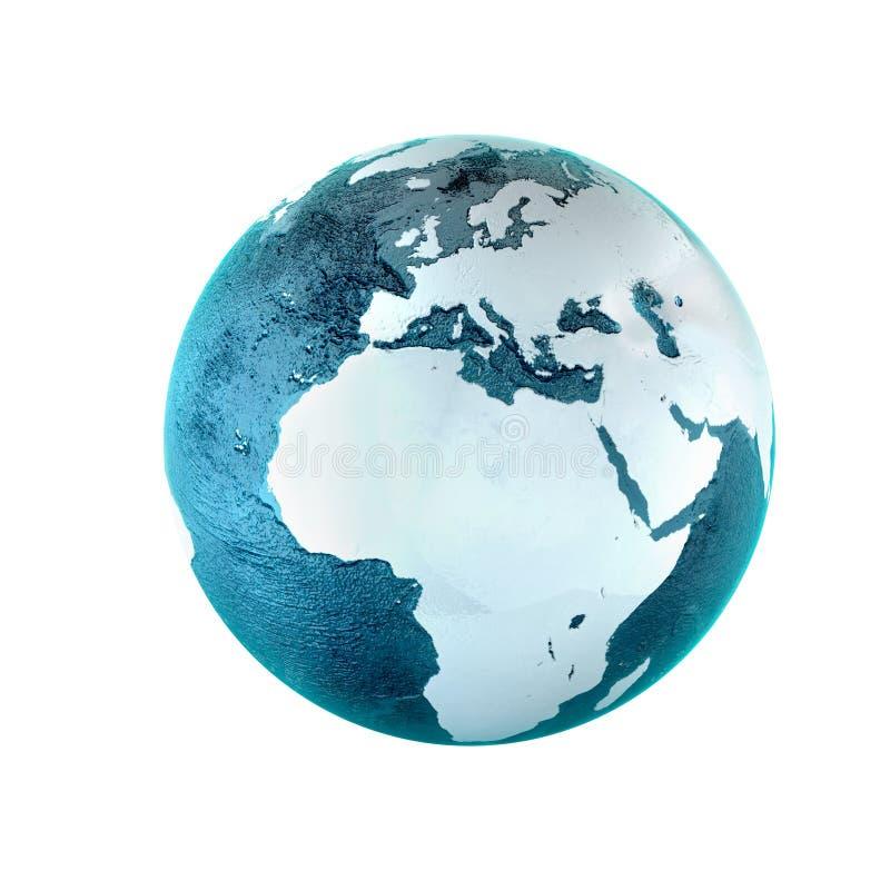 Modelo da terra ilustração stock