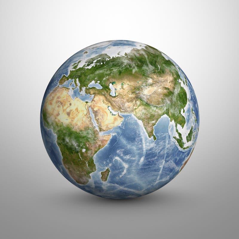 Modelo da terra 3D do planeta Os elementos desta imagem são fornecidos pela NASA ilustração stock