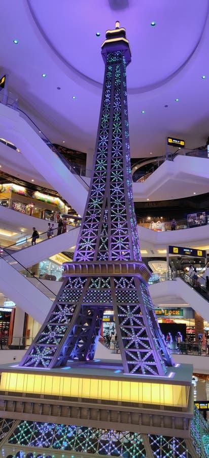 Modelo da torre Eiffel imagens de stock