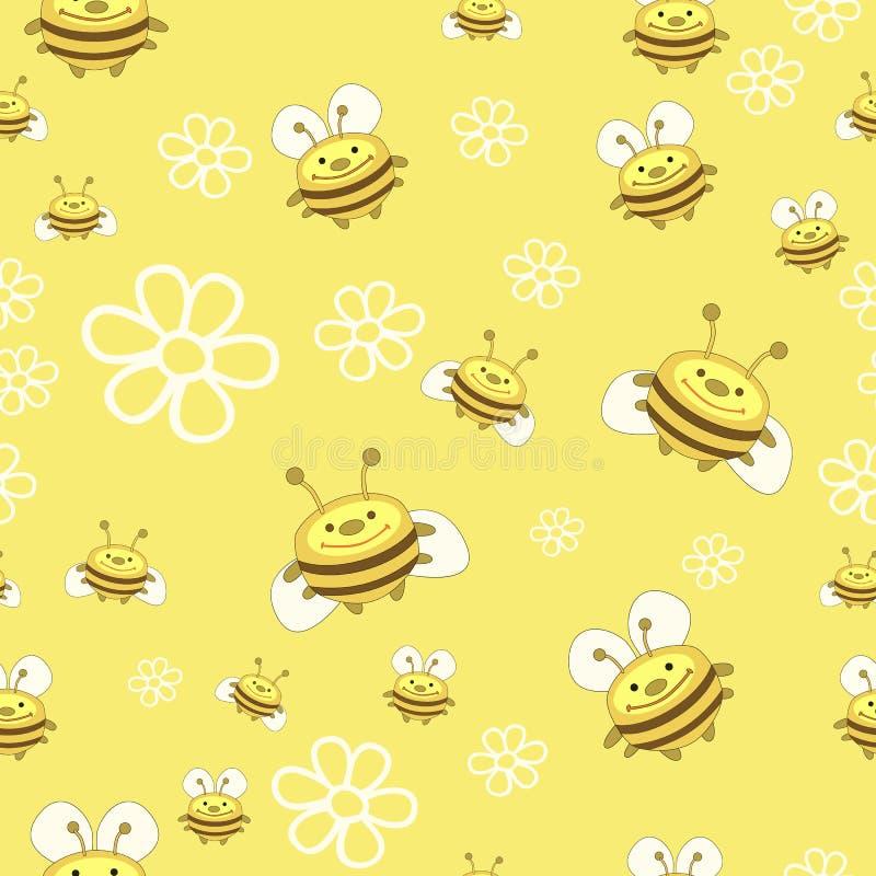 Modelo de abejas y de flores libre illustration
