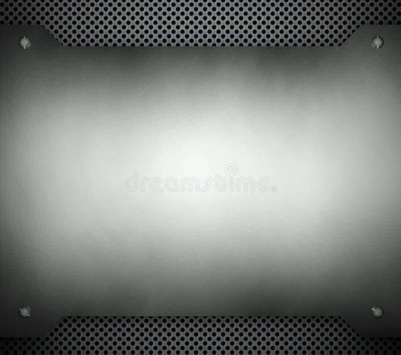 Modelo de acero con el fondo del metal del espacio de la copia ilustración del vector