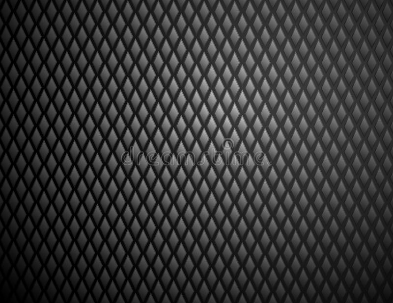 Modelo de acero del diamante negro brillante libre illustration
